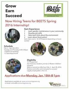 Spring 2016 BEETS Internship Flyer press quality