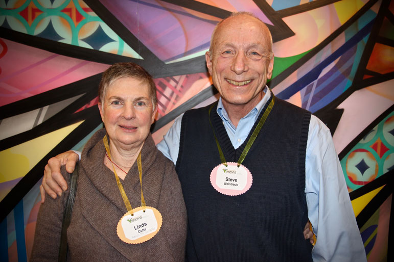 Linda Ruth Cutts, Abbot and Steve Weintraub, teacher, from the San Francisco Zen Center