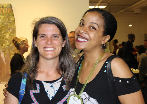 Abby Winshop-Hoyos, Assistant Manager, Heart of the City Farmers Market and Dee Lewis, former BEET and Advisory Board member