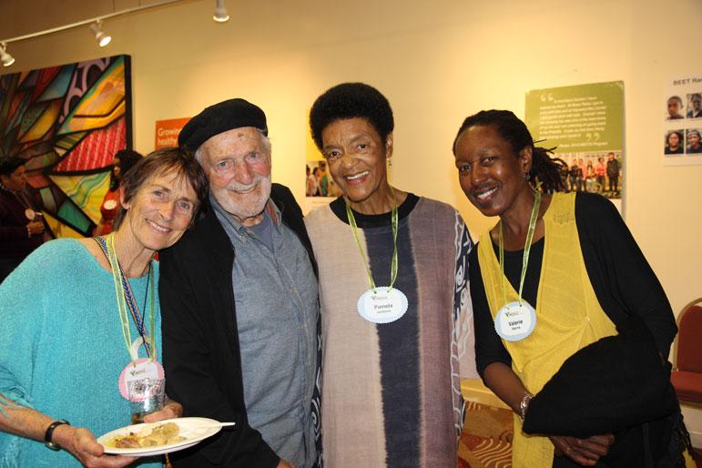 Dahlia and Jack Kamesar, Pam Jackson and Valerie Harris