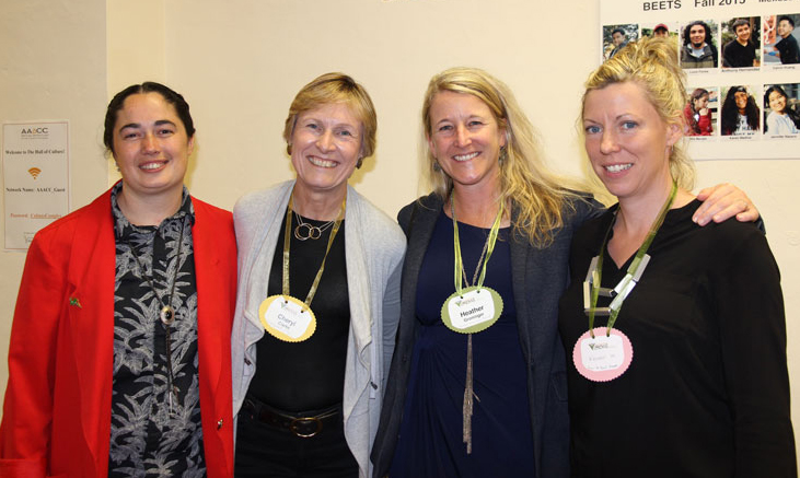 Nora Brereton, Former Director of Programs, Cheryl Clarke, Development Consultant, Heather Groninger, Former Advisory Board member, and Kristen Wolslegel, Former Advisory Board Chair