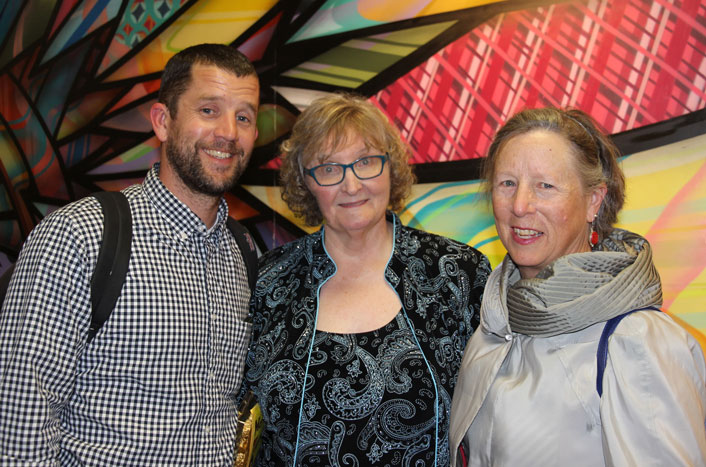 Adrian and Nanny Almquist with Barbara Wenger
