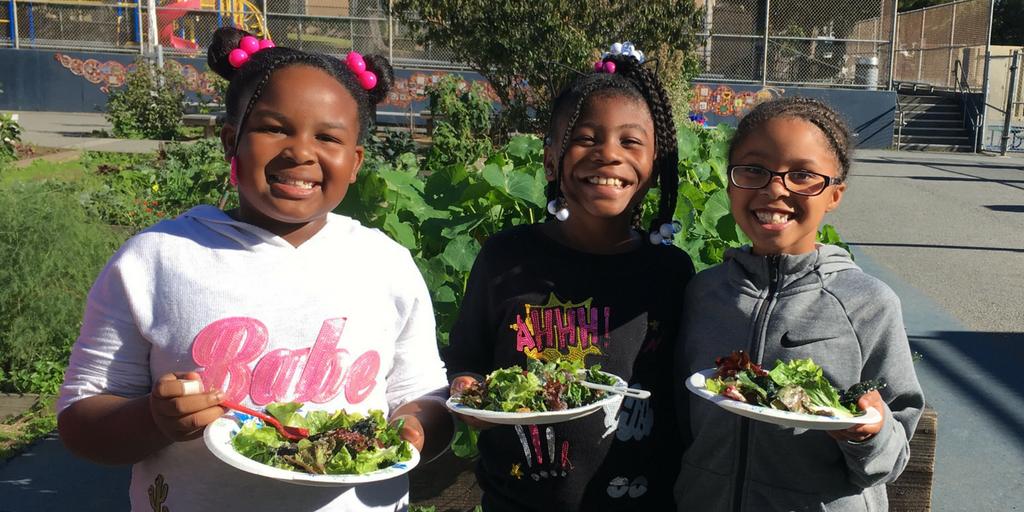 Impromptu Salad Day at Rosa Parks