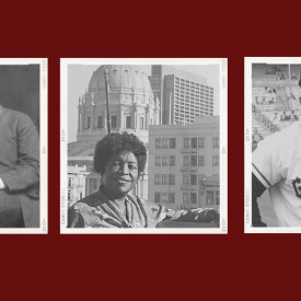 Portraits of Malcolm X, Booker T. Washington , Ella Hill Hutch, Willie Mays, Rosa Park